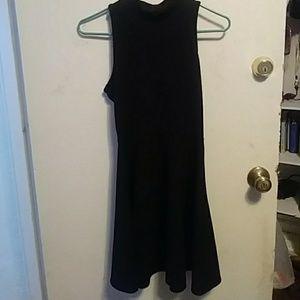 High neck, back cutout dress